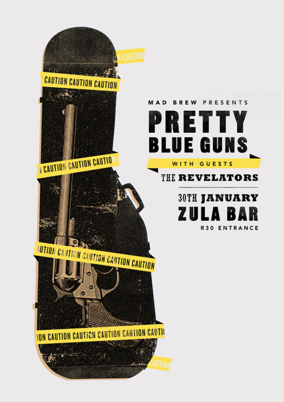 Poster Design Inspiration - Pretty Blue Guns