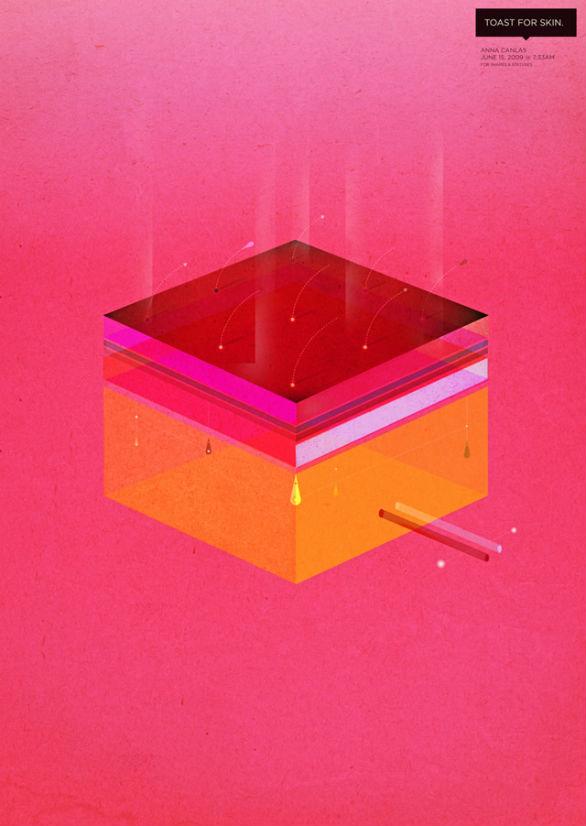 Poster Design Inspiration - Toast for Skin