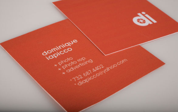 square business card di