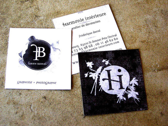 Square Business Card - Harmonie Interieure