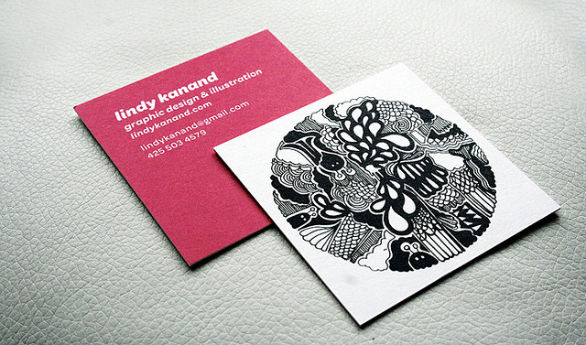 30 Pretty and Wicked Square Business Card Designs | UPrinting