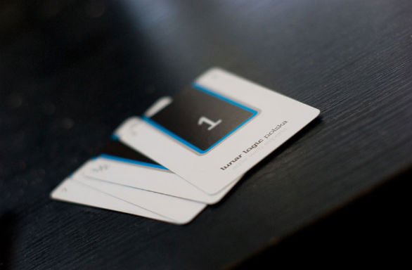 Square Business Card - Lunar Logic Polska