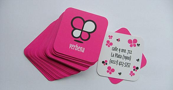 Square Business Card - Verbena