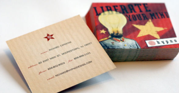 Square Business Card - Hypno Liberate
