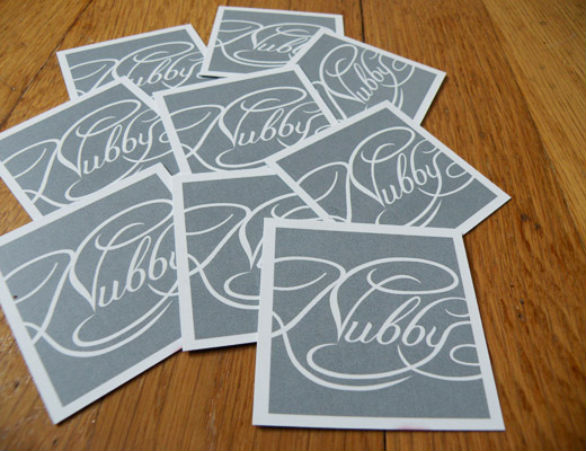 Square Business Card - Nubby