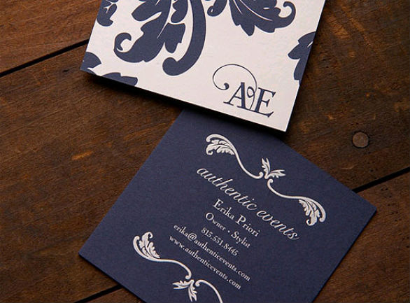 Square Business Card - Authentic Events