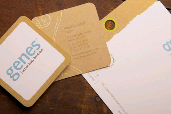 Square Business Card - Genes