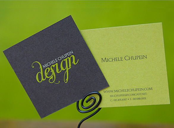 Square Business Card - Michelle Chupein