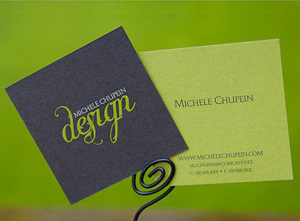 Square Business Card - Michelle Chupein