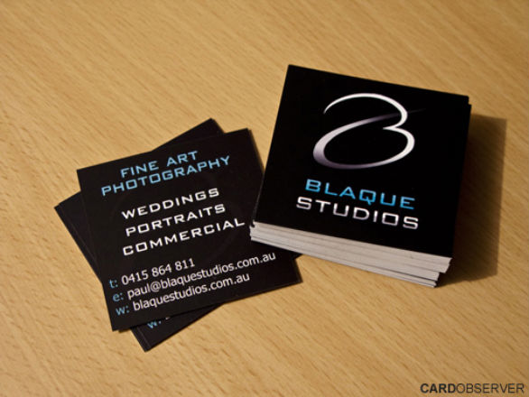 Square Business Card - Blaque Studios