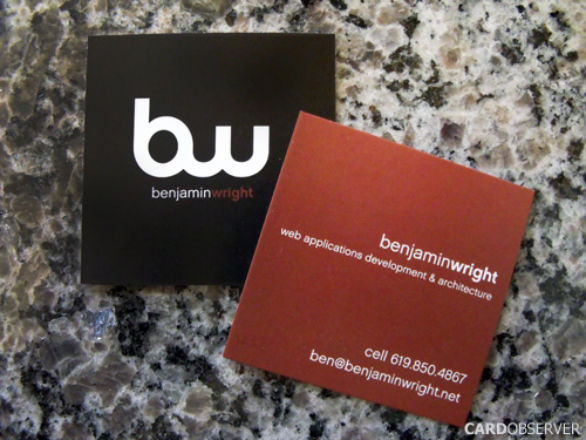 Square Business Card - Benjamin Wright