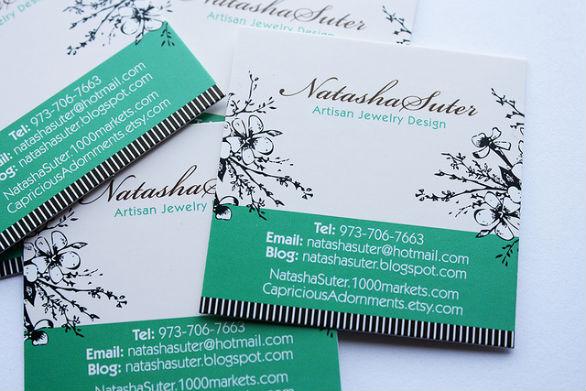 Square Business Card - Natasha Suter