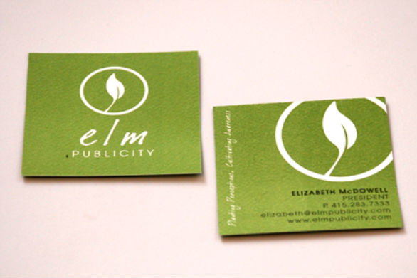 Square Business Card - Elm Publicity