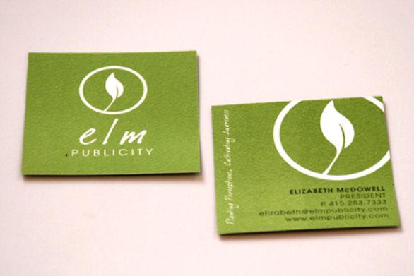 Square Business Card - Elm Publicity