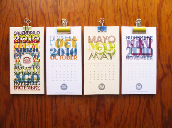 Colorful Calendar Samples - Shorty Typo