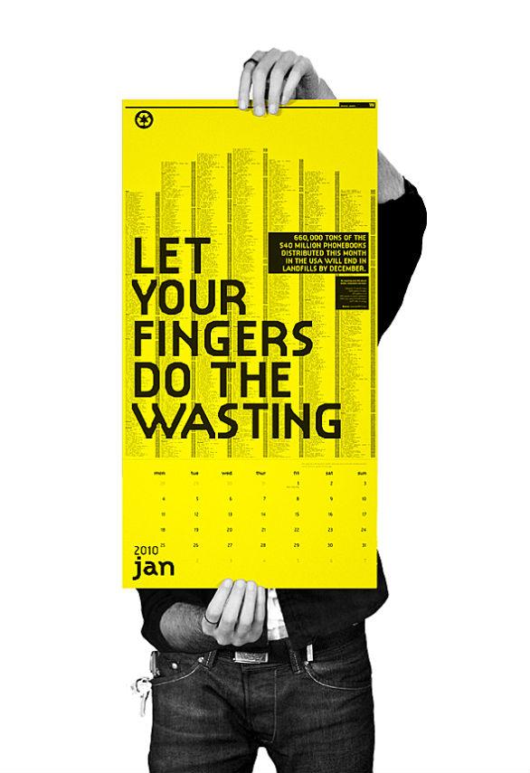 Colorful Calendar Samples - Wastage Awareness Calendar