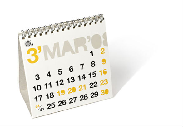 Colorful Calendar Samples - Amonas Desk Calendar