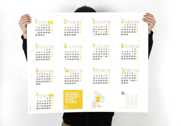 Calendar Design Poster : Cool and colorful calendar samples designs uprinting