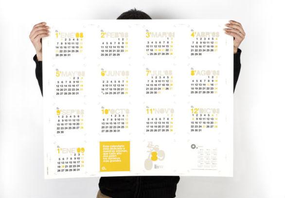 Calendar Poster Design : Cool and colorful calendar samples designs uprinting