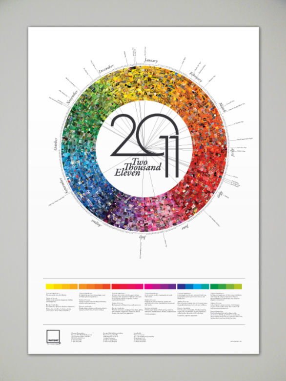 Colorful Calendar Samples - Pantone Calendar