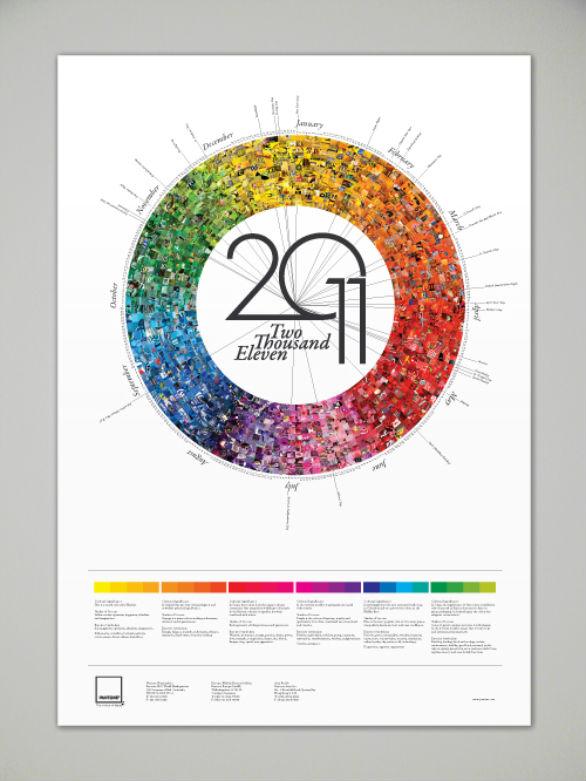 Colorful Calendar Samples - Pantone Calendar