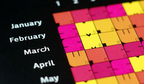Colorful Calendar Samples - Rekord