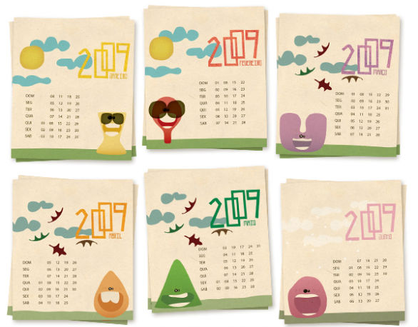 Colorful Calendar Samples - Calendar