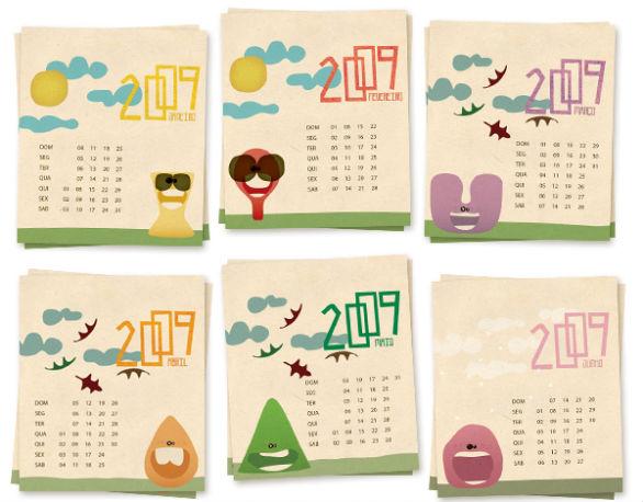Colorful Calendar Samples - Calendar