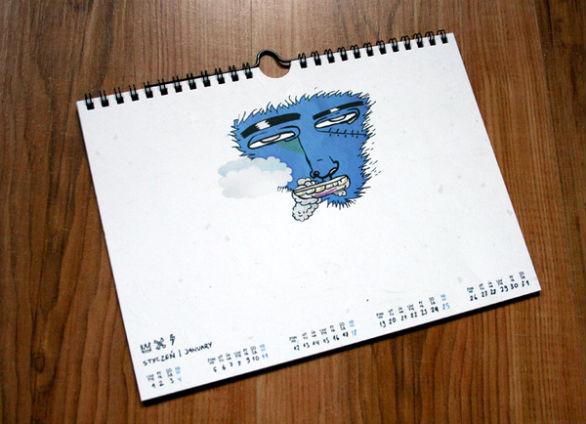 Colorful Calendar Samples - Milligram 2009 Calendar
