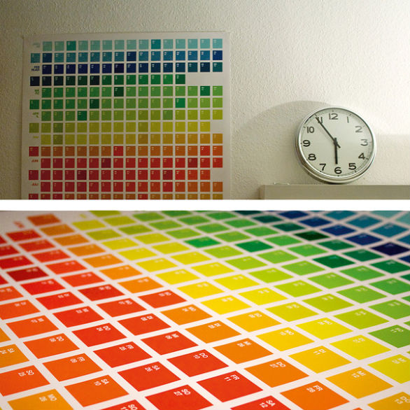 Colorful Calendar Samples - The Color Spectrum