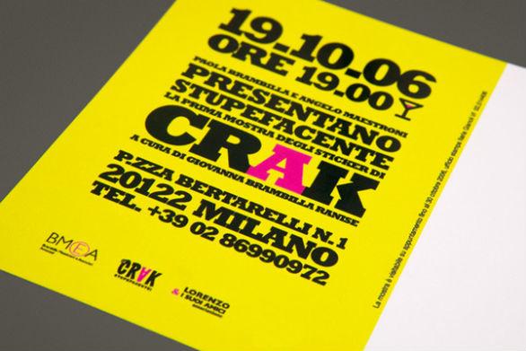 Creative Postcard Design -Crak Stupefacente