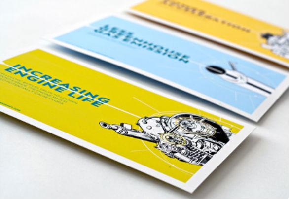 Creative Postcard Design - Engine Life