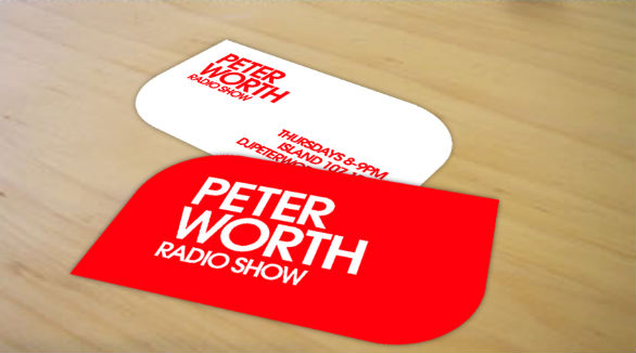 Custom Shaped Business Cards - Peter Worth