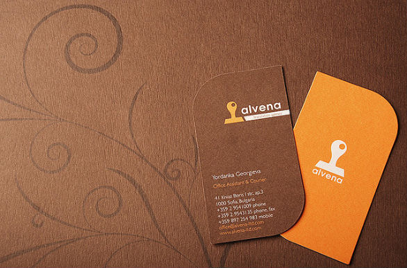 Custom Shaped Business Cards - Alvena