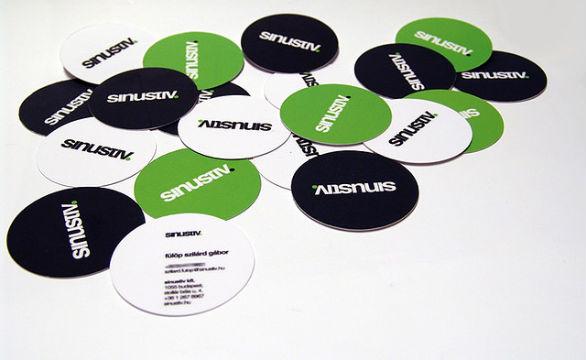 Custom Shaped Business Cards - Sinustiv