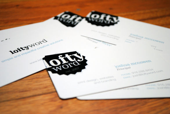 Custom Shaped Business Cards - Lofty Word