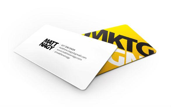 Custom Shaped Business Cards - Matthew Nagy
