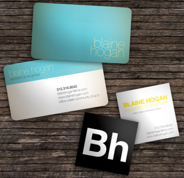 Custom Shaped Business Cards - Blain Hogan