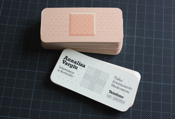 Top designer tips for business cards that work sample of a die cut business card that cleverly meshes design and personal branding reheart Choice Image