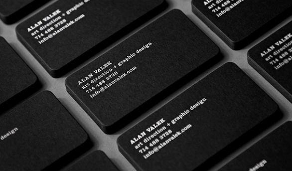 Custom Shaped Business Cards - Alan Valek