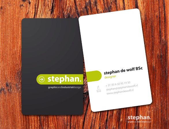 Custom Shaped Business Cards - Stephan