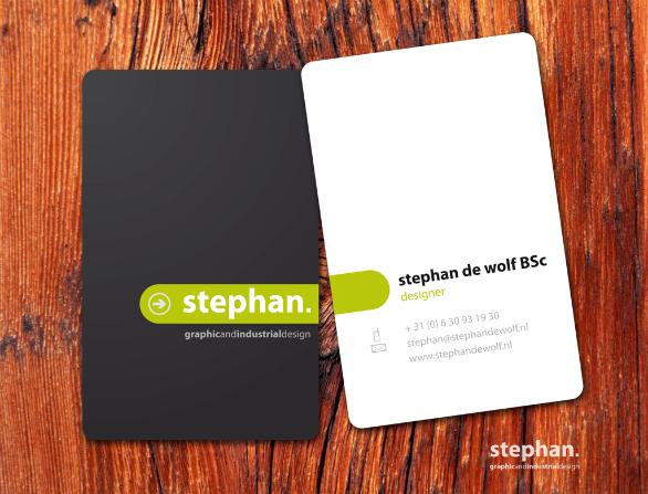 Custom Shaped Business Cards - Stephan