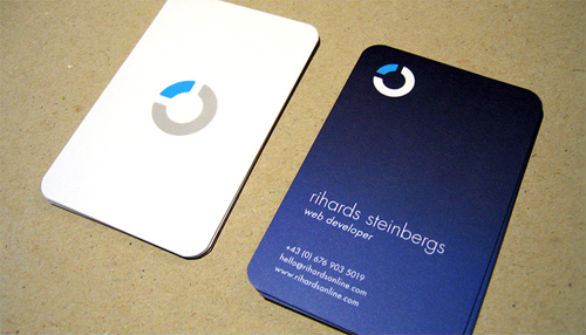 Custom Shaped Business Cards - Rihards Steinbergs