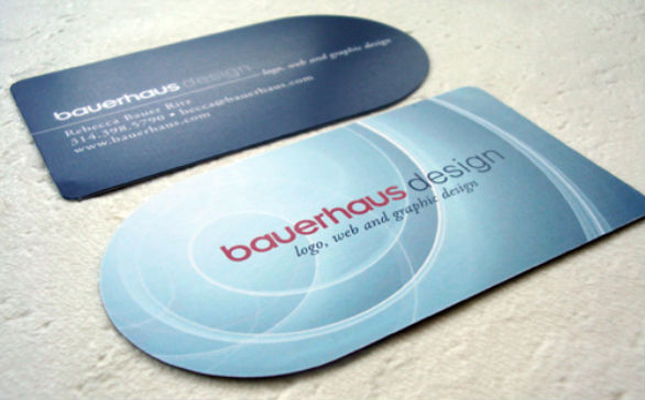 Custom Shaped Business Cards - Bauerhaus Design