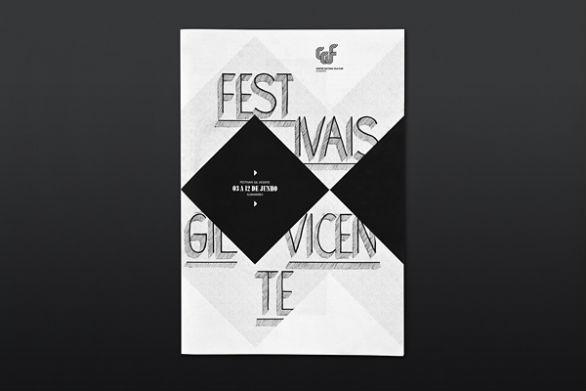 Event Brochure Design Examples -  Festivais Gil Vecente