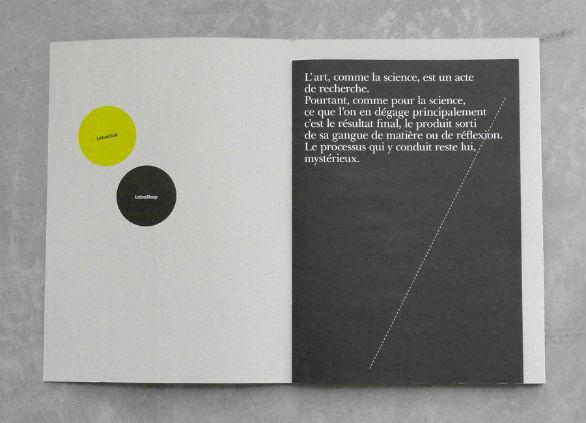 Event Brochure Design Examples - Le Laboratoire