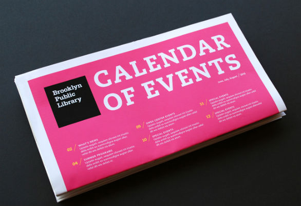 Event Brochure Design Examples - Brooklyn Public Library