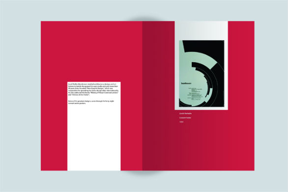Event Brochure Design Examples - Josef Muller-Brockmann