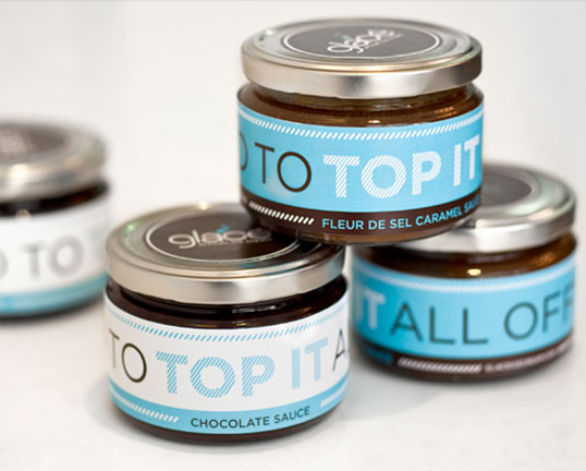 Product Label Design - Glace Artisan Ice Cream