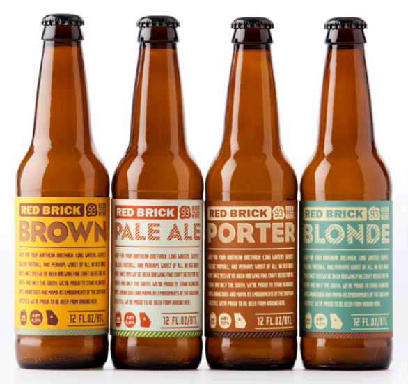 Product Label Design - Red Brick Beer
